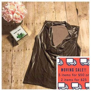 🚛Sale! Natori Velvet Silk Blend Cowl Neck Top- XS